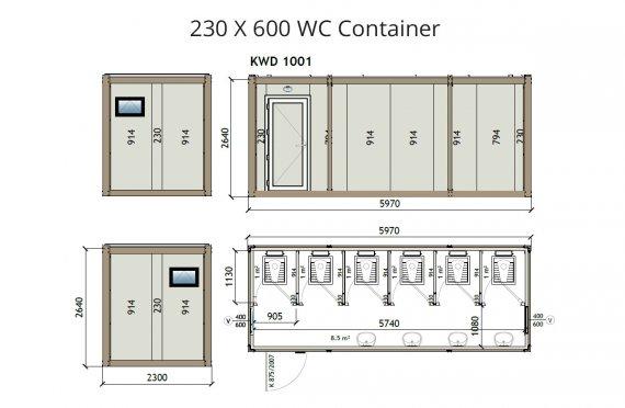 KW6 230X600 Контейнер Тоалетна