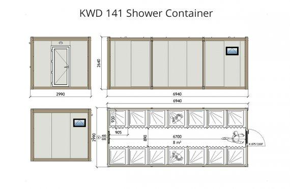 KWD 141 Контейнер Баня