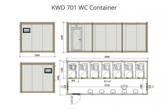 KWD 701 Санитарни контейнери