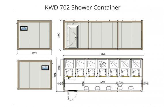KWD 702 Контейнер Баня