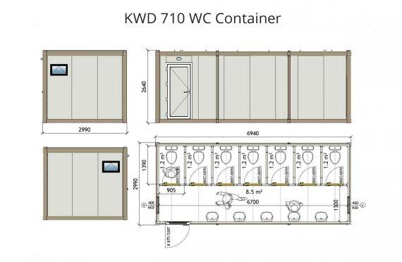 KWD 710 Контейнер Тоалетна