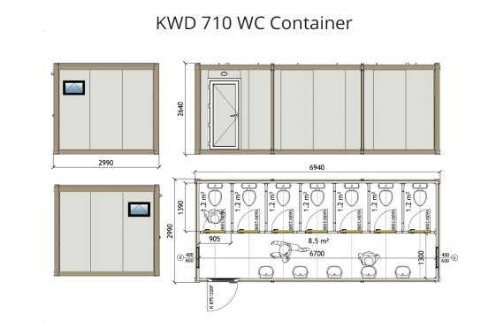 KWD 710 Санитарни контейнери