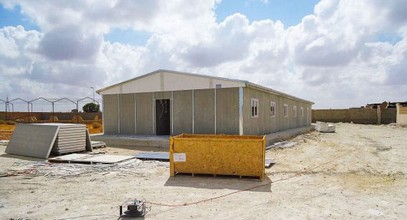 Производство на сглобяема постройка в обект за добив на нефт в Либия