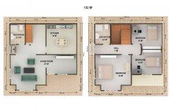 Проекти на Двуетажни Сглобяеми Къщи